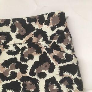 LOFT Skirts - Loft Cotton leopard print mini skirt with lining.